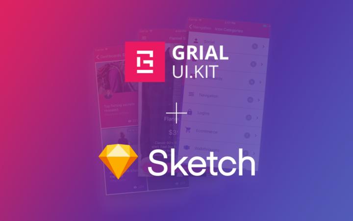 Grial Kit Screens on Sketch